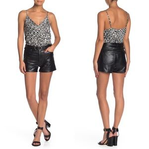 Love, Fire - High Waist Faux Leather Shorts